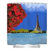 Fall In Paris Shower Curtain