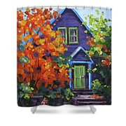 Fall In The Neighborhood Shower Curtain