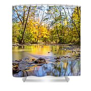 Fall In Wisconsin Shower Curtain by Steven Santamour