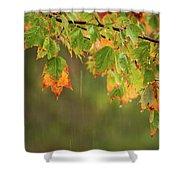 Fall-ing Rain Square Shower Curtain