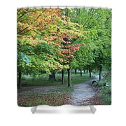 Fall Is Arriving Shower Curtain