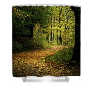Fall Is Just Around The Corner Shower Curtain