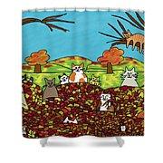 Fall Kitties Shower Curtain