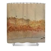 Fall Lake Shower Curtain