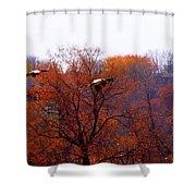 Fall Landing Shower Curtain