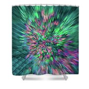 Fall Leaf Zoom Abstract Shower Curtain