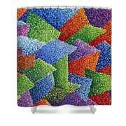 Fall Leaves On Grass Shower Curtain by Sean Corcoran