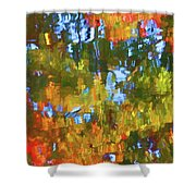 Fall Leaves On River 12 Shower Curtain