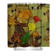 Fall Leaves On The Deck Shower Curtain