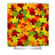 Fall Leaves Quilt Shower Curtain