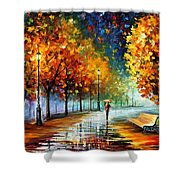 Fall Marathon Shower Curtain
