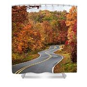 Fall Mountain Road Shower Curtain