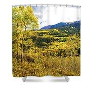 Fall Mountain Scenery Shower Curtain