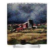 Fall Night At The Farm Shower Curtain