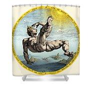 Fall Of Icarus, Greek Mythology Shower Curtain