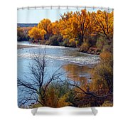 Fall On Animas River Shower Curtain
