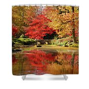 Fall On Fire Shower Curtain