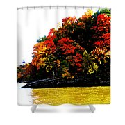 Fall On Grand Lake Shower Curtain