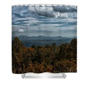 Fall On The All American Road Shower Curtain