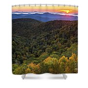 Fall On The Blue Ridge Parkway. Shower Curtain by Itai Minovitz