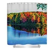 Fall On The Lake In Wisconsin Shower Curtain