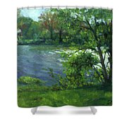 Fall On The Maumee River Shower Curtain