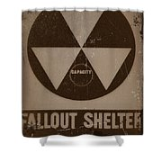 Fall Out Shelter Shower Curtain