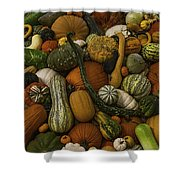 Fall Pile Shower Curtain