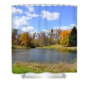 Fall Pond Shower Curtain