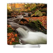 Fall Power Shower Curtain by Evgeni Dinev
