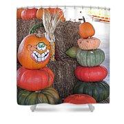 Fall Pumpkins Shower Curtain