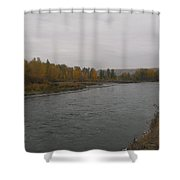 Fall Rains Down On The River Shower Curtain