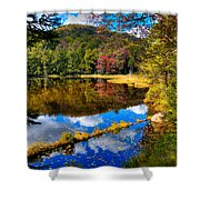 Fall Reflections On Cary Lake Shower Curtain
