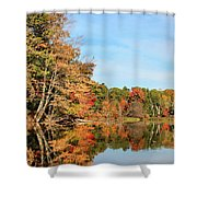 Fall Reflections On Sabattus River Shower Curtain
