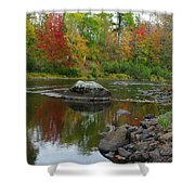 Fall River Reflection Shower Curtain