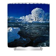 Fall River Winter Shower Curtain