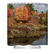 Fall Scene 3 Shower Curtain