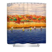 Fall Shellfishing In New England Shower Curtain