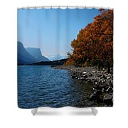 Fall Shoreline. Shower Curtain