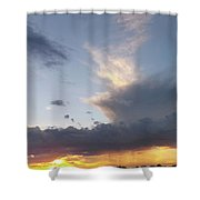 Fall Sky At Sunset Shower Curtain