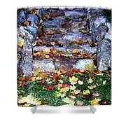 Fall Stairway Shower Curtain