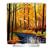 Fall Stream Shower Curtain