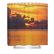 Fall Sunrise Shower Curtain