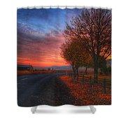 Fall Sunrise Shower Curtain