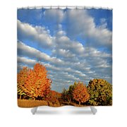 Fall Sunrise Over Hackmatack Nwr Shower Curtain