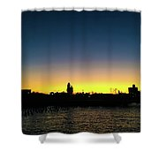 Fall Sunset In Nj Shower Curtain