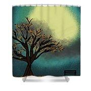 Fall Time Break  Shower Curtain