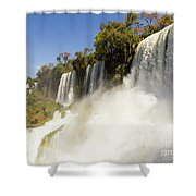 Fall To The Rainbow Shower Curtain