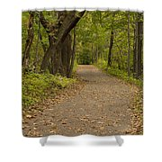 Fall Trail Scene 45 A Shower Curtain