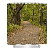Fall Trail Scene 45 B Shower Curtain